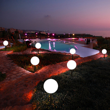 Remote Control Garden Light Ball Waterproof Colorful Lawn LED Balls Landscape illuminated Outdoor Holiday Lights Decoration rechargeable remote control garden ball lights waterproof lawn lamps led balls illuminated outdoor night lights decoration