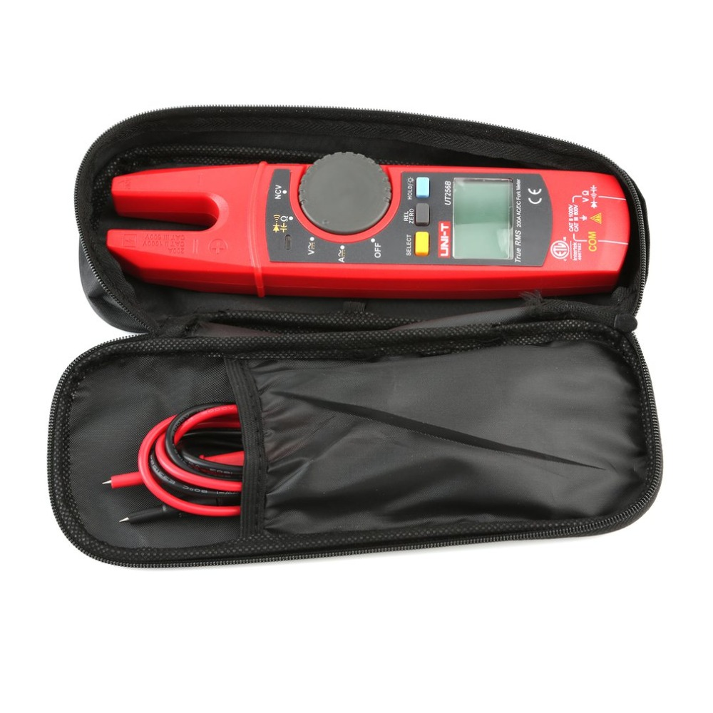 UT256B 200A AC/DC Auto Range Current True RMS Digital Fork Type Clamp Meter with ohm Capacitance NCV Test Multimeter uni t ut256b true rms digital clamp meter multimeter fork meter ac dc volotage current resistance capacitance ncv test backlight