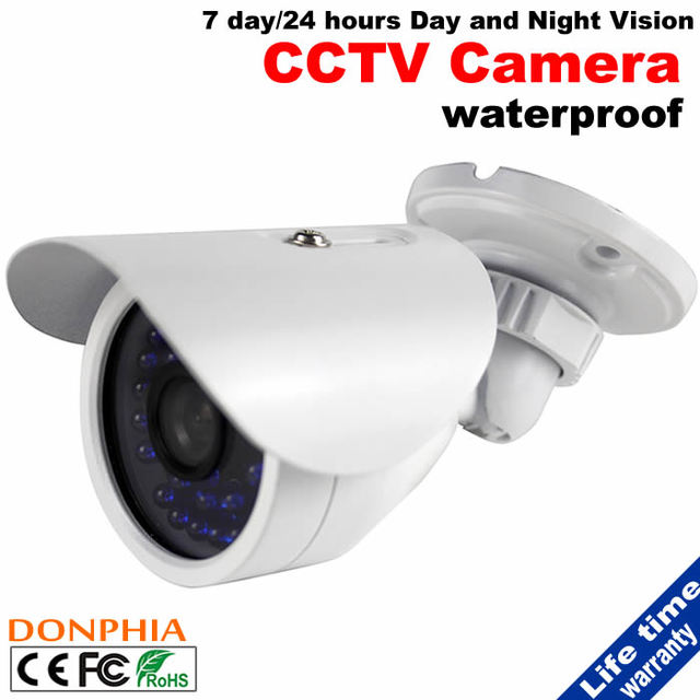 "1/4"" CMOS 700TVL CCTV Camera 30pcs IR LEDs 7Days/24Hours Day and Night Vision Color White Waterproof Security System Hot Selling"