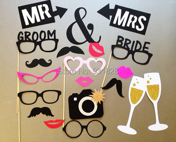 Wedding Photography Props: Cheap Wedding Photo Booth Prop On A Stick Holiday Photo