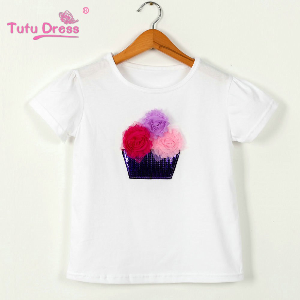 Baby Girls Summer T-shirt Cotton Short-Sleeved Casual T shirts for Kids Children`s T-Shirts 2-12 Years Children Clothing