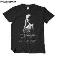 Warhammer 2017 Summer Game Of Thrones Men T Shirt Ice Fire Print Targaryen Tee Shirt Homme