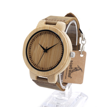 BOBO BIRD D13 Men's Natural Bamboo Wood Watches Simple Design Men Top Brand Wooden Bamboo Wrist Watches