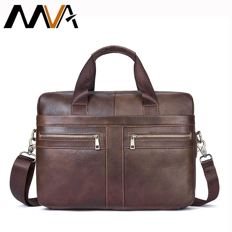 d5ddbc29d9ad Купить MVA кожаная сумка для ноутбука 14 inch натуральная кожа Для мужчин  сумки портфель сумки Crosssbody Курьерские сумки Для мужчин сумка мужской  Продажа ...