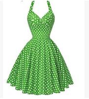 Women Summer Print Dot Polka Sundress Sleeveless Thin Dress 50S 60S Rockabilly Prom Party Dresses Retro Feminino Vestidos K754