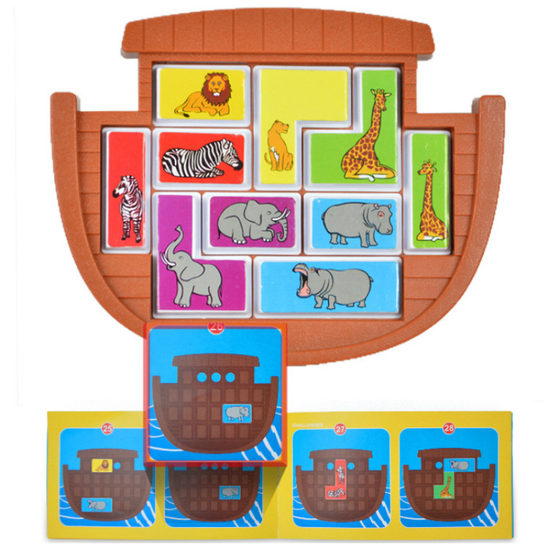 Kids Jigsaw Puzzle Toy Animals Great Save Children Shape Thinking Puzzle 48  Logging Inference Game Educational Toys For Gift