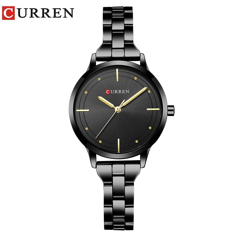 683e55fa3da CURREN Relógio de Ouro das Mulheres Relógios Senhoras relógio de Aço  Criativo Mulheres Pulseira Relógios Relógio Feminino Relogio feminino  Montre Femme 2018