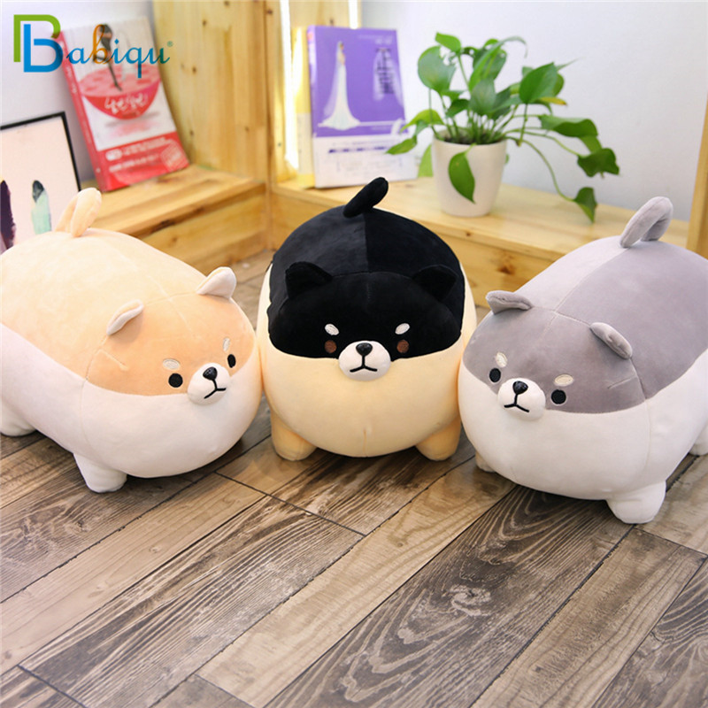 Babiqu 1pc 40/50cm Fat Shiba Inu Dog Plush Toy Stuffed Cute Animal Corgi Chai Dog Soft Sofa Pillow Lovely Gift For Kids Children