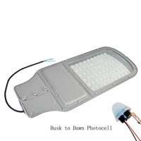 Shipping From USA Warehouse 60Watt Parking Lot LED Street Light With Dusk To Dawn Photocell 120V
