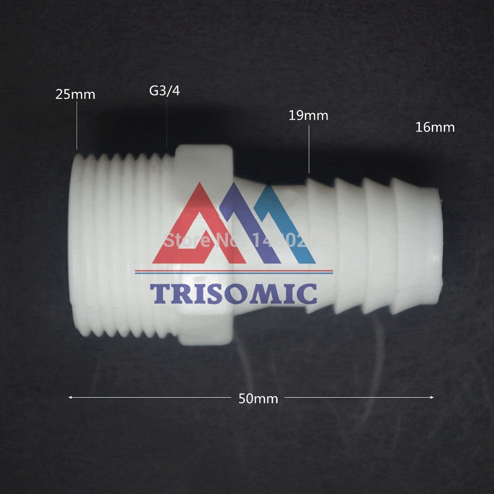 Heimwerker Rohre & Armaturen 16mm-g3/4 Gerade Verbindungskunststoffrohr Fitting Barbed Stecker Mit Gewinde Material Pe Joiner Fitting Aquarium Ungleiche Leistung