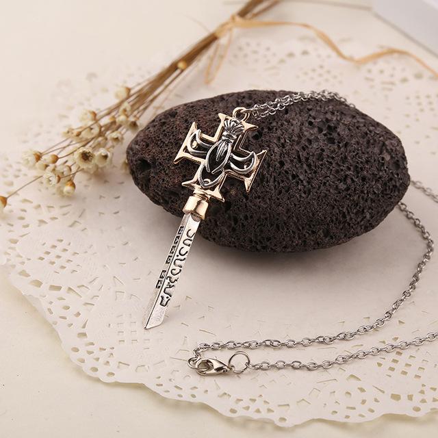 The Da Vinci Code  Zinc Alloy Cross Pendant Necklace