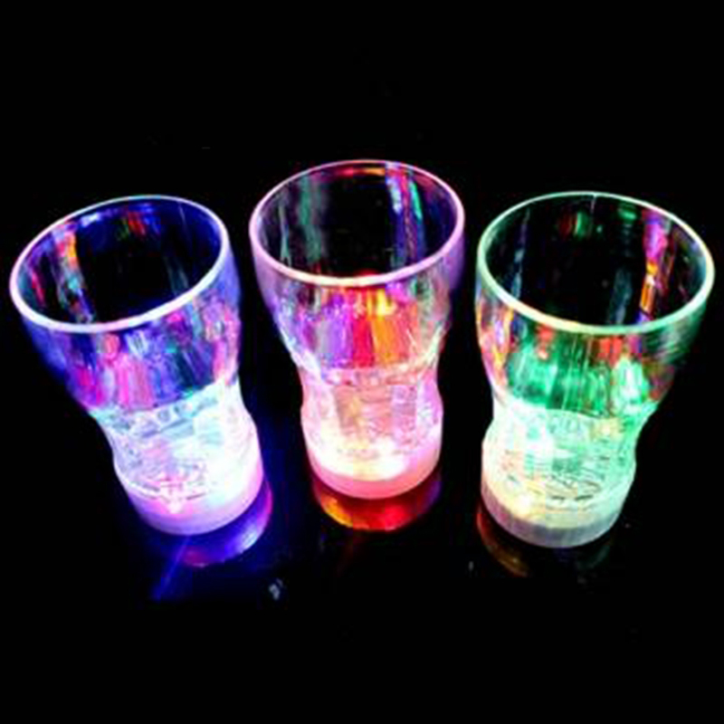 LED Light Color Flashing Beer Mug Drink Cup For Party Decorative
