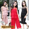 Big Girl Clothing Summer Girl Top+Pants 2 Pieces Sets Girl Chiffon Clothes Suit Girls Summer Outerwear For 8~16 Year Kids