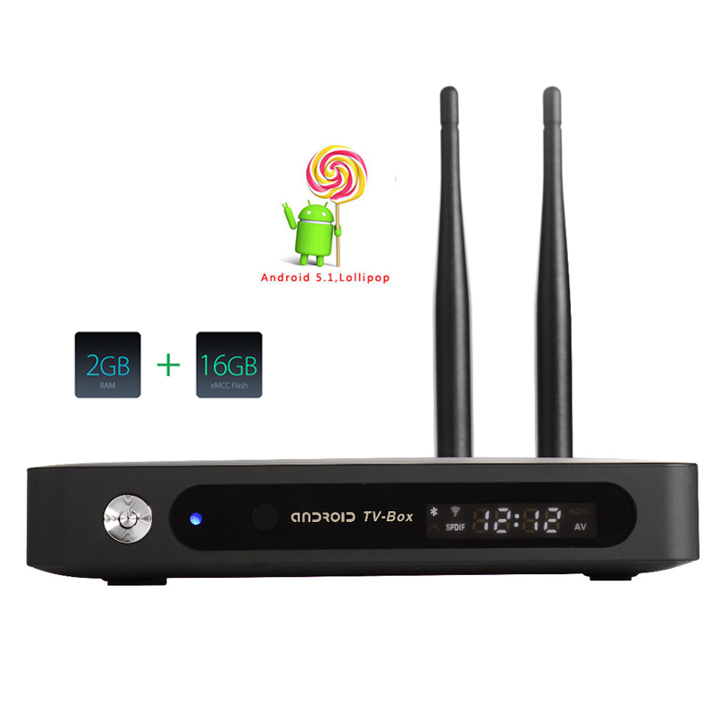CSA91 TV Box Android 5.1 RK3368 Cortx-A53 Octa Core Smart TV 2GB 16GB H.265 4K BT4.0 With 2 Antenna HD Smart Media Player rk3368 tv box zidoo x9 android 5 1 octa core 2gb 16gb bluetooth dual wifi 3d smart media player 4k h 265 android tv set top box