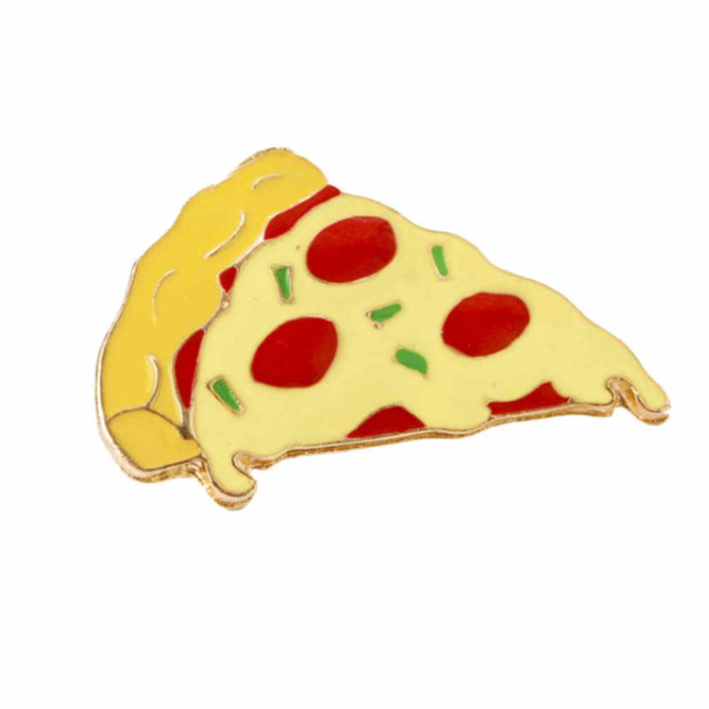 Pizza Hamburger Hot Dog Telur Rebus Dadu OK BOOM Bros Denim Pin Gesper Kemeja Lencana Fashion Hadiah untuk Teman