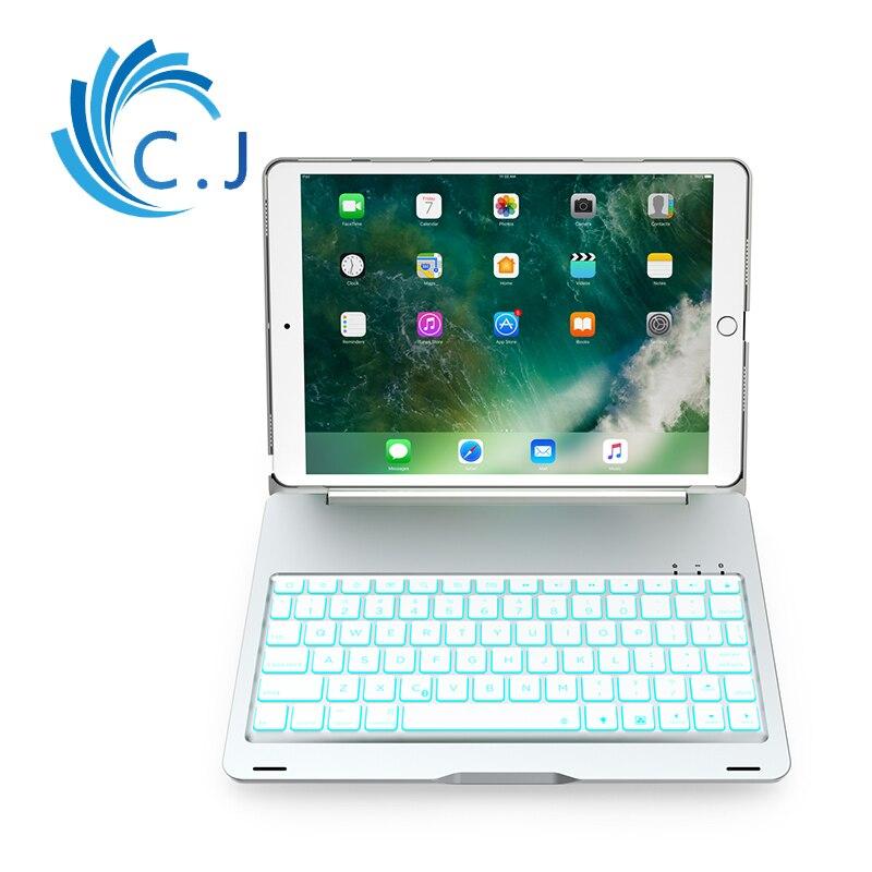 Étui pour ipad Pro 10.5 pouces PU + aluminium à clapet Bluetooth clavier intelligent Auto sommeil réveil étui pour tablette gadget Coque A1701 A1709