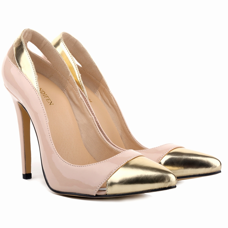 Large Size Pu Leather Pointed Toe High Heel Sexy Party Wedding Shoes Fashion Classic Ladies Women Elegant Office Pumps SMYBK-042 size 33 40 women s high heel shoes women floral thin heel pointed toe pumps sexy ladies fashion red color wedding party shoes