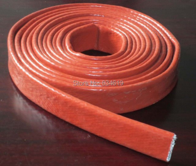 70mm silicone fiberglass heat resistant sleeve heat insulation ...