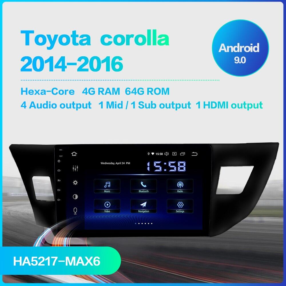 "Image 2 - Dasaita 10.2"" Multimedia Car Android 9.0 for Toyota Corolla 2014 2015 2016 TDA7850 Multi Touch Screen HDMI 4GB RAMCar Multimedia Player   -"
