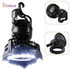 Portable 2 Mode 18 LED Tent Light 2 In 1 Camping Ceiling Fan Light Hanging Tent Lamp Lantern Outdoor Tent Light Fan