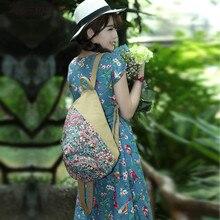 Новинка 2017 года приходить мода рюкзак! Горячая Многофункциональный винтажные женские рюкзаки женские с цветочным принтом рюкзаки топ-тиснение