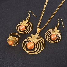 Anniyo Pearl Bird Pendant Necklaces Earrings Ring Papua New