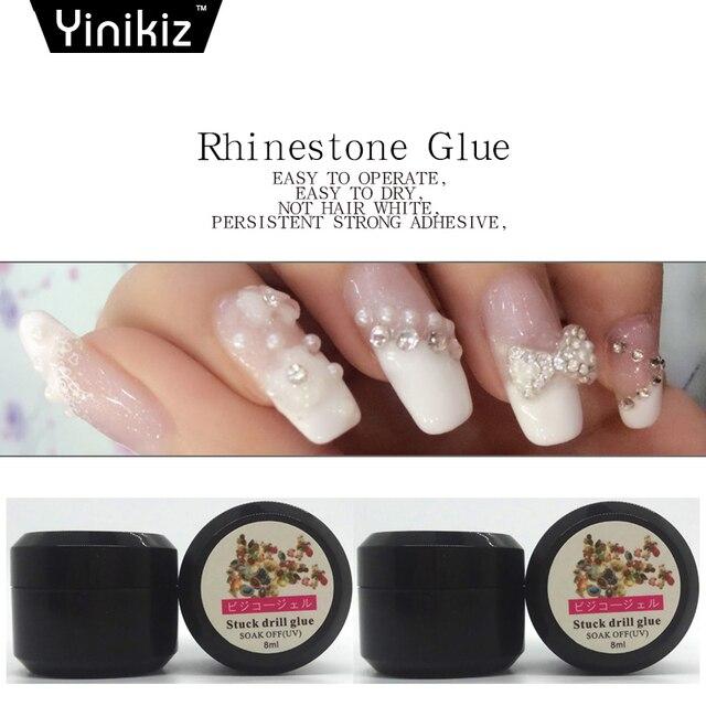 Yinikiz 1pcs 8g Glue Rhinestone Decoration Uv Gel Nail Polish Adhesives Super Sticky Varnish