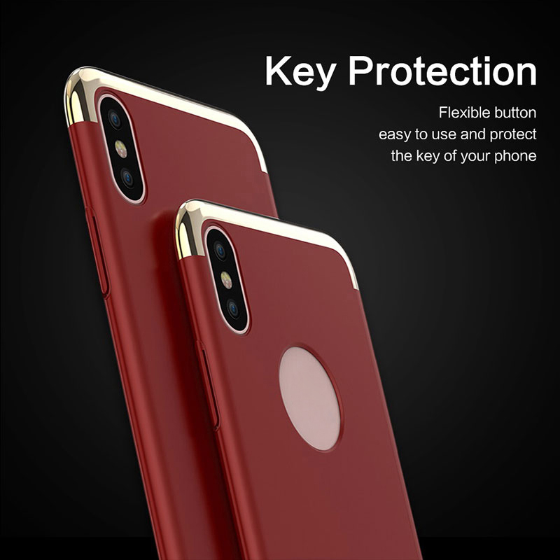 Luxury Plating Design Phone Case For iphone X Case Fashion Hard Protective Plastic Back Cover Slim Candy Color Cases For iphoneX