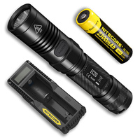 2019 new NITECORE EC20 Flashlight with 18650 Rechargeable Battery + UM10 Charger Waterproof Outdoor Portable Torch Free Shipping