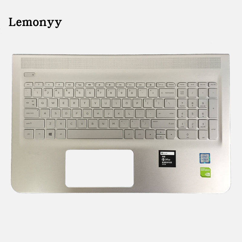 NEW US Laptop keyboard For HP 15-AE 15-AH with Palmrest Upper keyboard With Backlight C Shell laptop keyboard with backlit for hp for pavilion 15 p000ej 15 p000ne 15 p000nf bulgaria bg sn6136 sg 59660 27a
