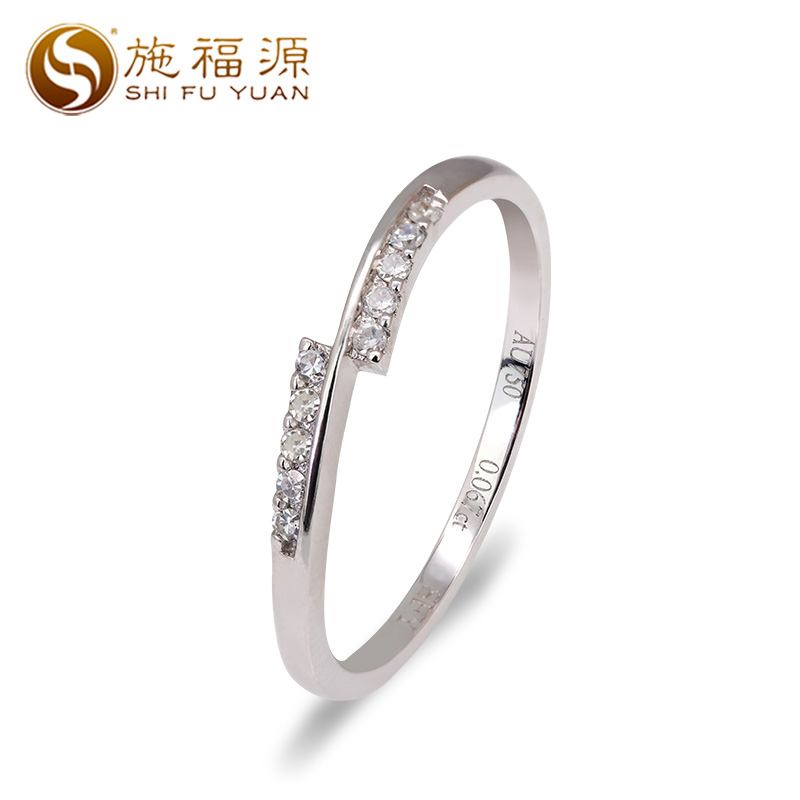 18k gold Natural diamond engagement ring woman custom Gift 10 Diamonds 0.067ct ...