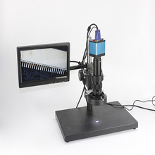Wholesale prices 2MP 1080P CMOS HDMI Microscope Camera For Industry Lab PCB USB Output Video Recorder + C-mount Lens + 56 LED Ring Light + Stand