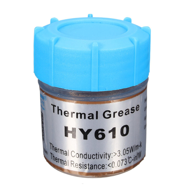 1pcs HY610 10g Golden Thermal Grease Silicone Grease Conductive Grease Paste For CPU GPU Chipset Cooling Compound Silicone hot sale 10g golden thermal grease silicone grease conductive grease paste for cpu gpu chipset cooling compound silicone hy610