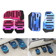 3 Pieces Set Universal Aluminum Alloy Automatic Car Foot Pedal Brake Throttle Kit Anti-slip