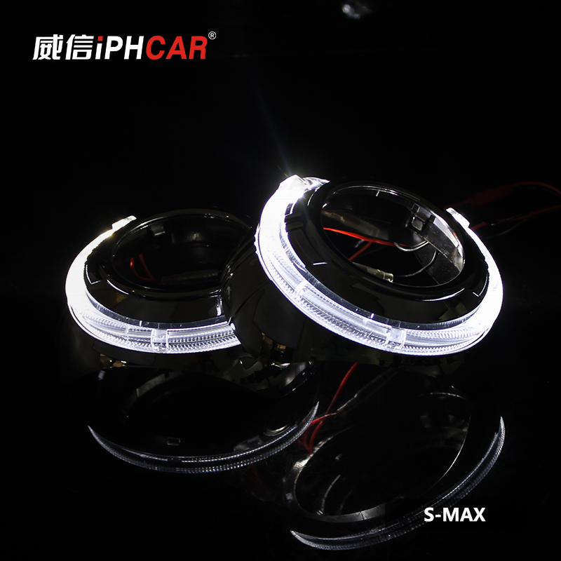 Free Shipping IPHCAR Car Styling LHD/RHD Mini Bi-xenon Projector Lens Auto Angel Eyes Light Headlight Retrofit Xenon free shipping iphcar lhd rhd auto driving front lens universal led ring angel eyes light mini projector headlight for h1 h4 h7