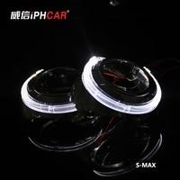Free Shipping IPHCAR Car Styling LHD/RHD Mini Bi xenon Projector Lens Auto Angel Eyes Light Headlight Retrofit Xenon