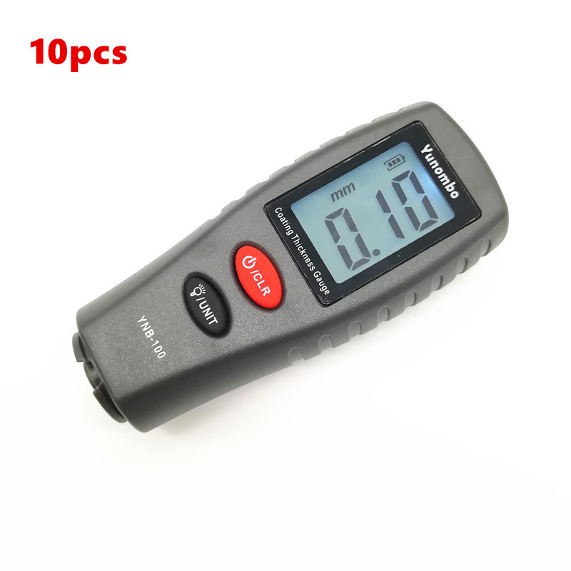 10pcs Yunombo Digital Backlight LCD Film Thickness Meter Car Paint Thickness Tester Coating Thickness Gauge YNB