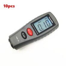 10pcs Yunombo Digitale LCD Retroilluminato Film Misuratore di Spessore Tester di Spessore di Rivestimento Calibro di Spessore della Vernice Auto YNB 100