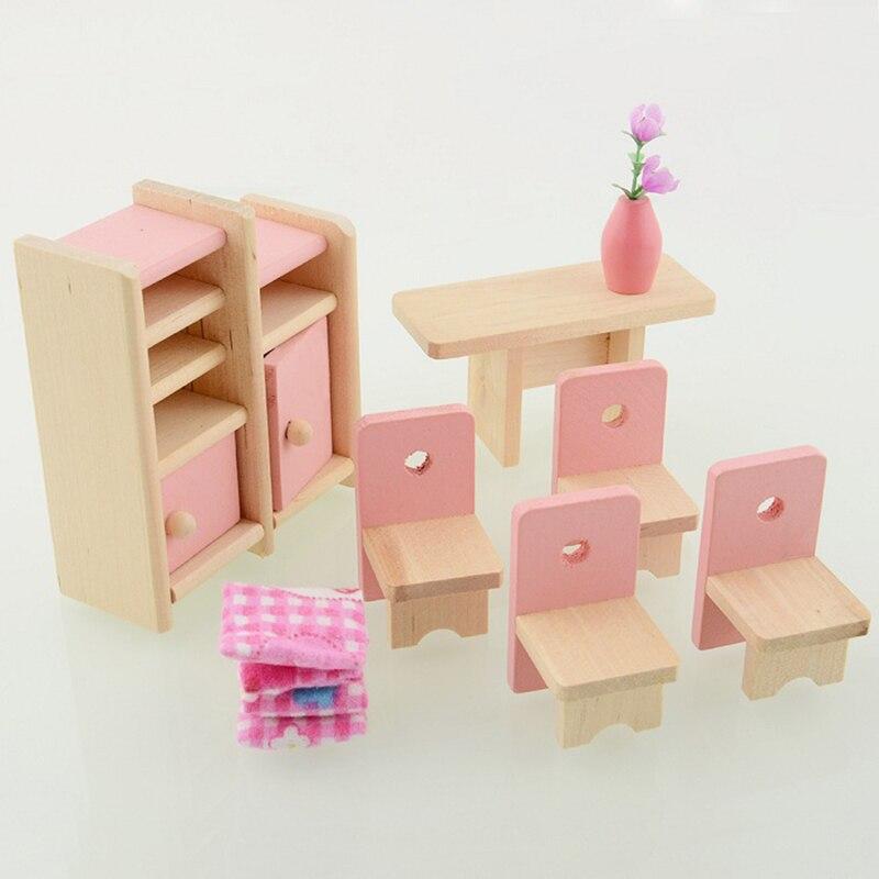 nuevo llega de muecas de madera casa de comedor muebles de juegos para nios de diseo