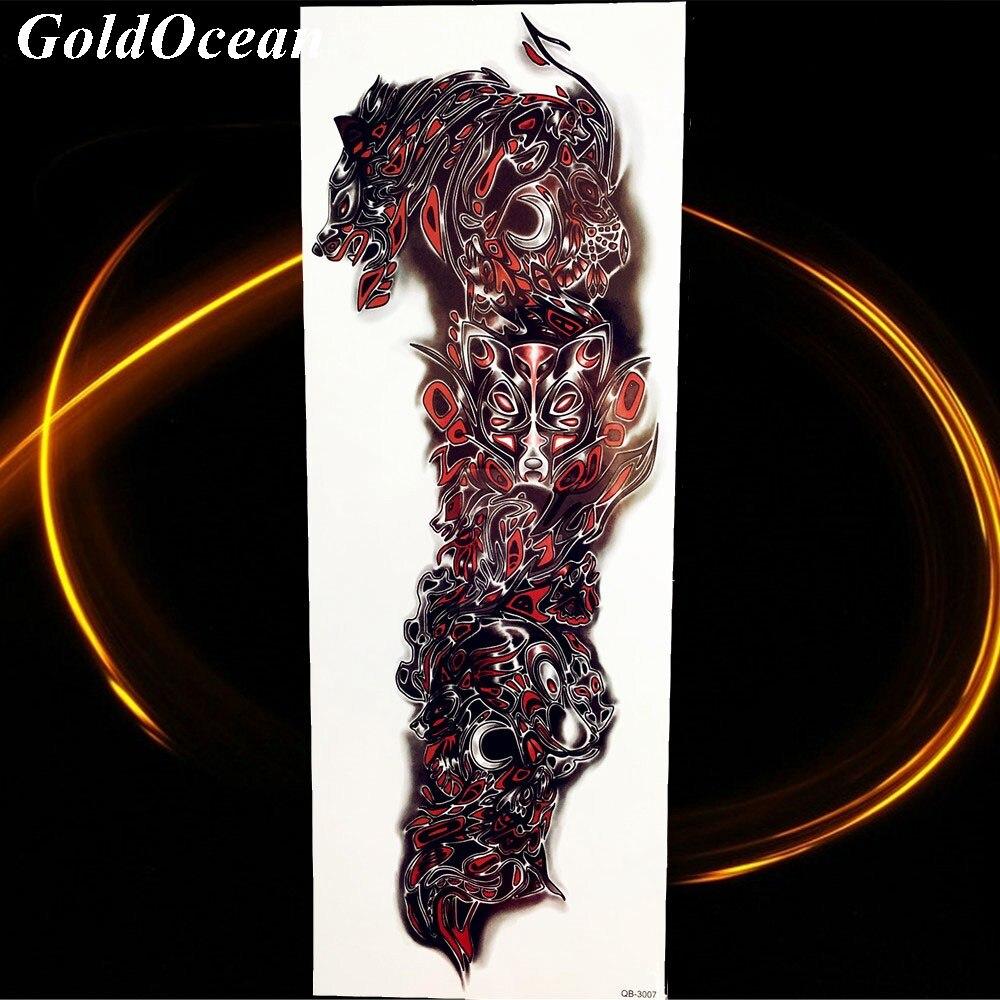 Gran Reloj Ojo De Cuerpo Del Tatuaje Temporal Brazo Pintura Verano