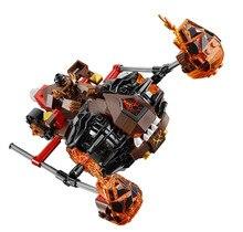 LEPIN Nexo Knights Moltor's Lava Smasher Combination Marvel Building Blocks Kits Toys Minifigures Compatible Legoe Nexus