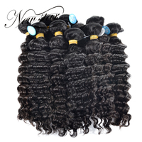 NEW STAR Wholesale 10 Pieces 10 34 Brazilian Deep Wave Bundles Salon Supply Virgin Human Hair Extension Cuticle Aligned Weave