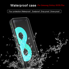 hot deal buy for samsung galaxy s8 s 8 case ip68 waterproof case for samsung galaxy s8 plus s8+ cover diving underwater pc + tpu armor cover