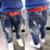 3-7Years meninos jeans crianças jean calças do bebê meninos calças jeans buracos casuais bonito crianças primavera outono calças jeans