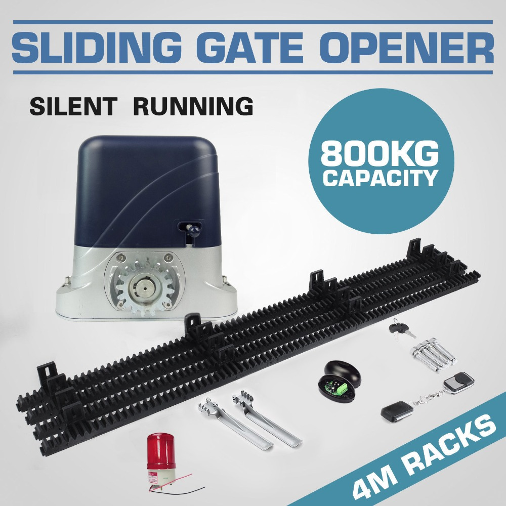 GALO 500~1300KG Sliding Electric Gate Opener Auto Motor Wireless Remote Control Kit Wih 4M Mute Nylon Rack