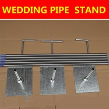 Top Quality Wedding Backdrop Decoration Stand Stainless Steel Pipe Gauze Curtain Stent 3*3m 3*6m 4*4m 4*8m Available