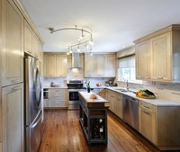 2017 Новый стиль классический, из массива дерева кухонные шкафы в американском стиле из цельной древесины кухонная мебель свободный дизайн д