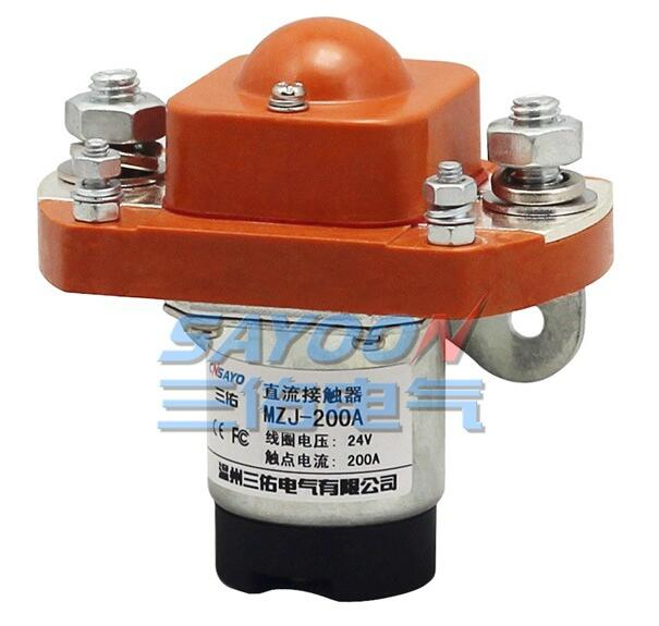 SAYOON 200A DC contactor MZJ-200A, DC 12V contactor, used for electric vehicles, engineering machin sayoon dc 12v contactor czwt150a contactor with switching phase small volume large load capacity long service life