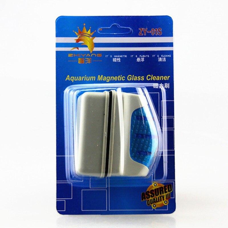 Новые магнитные щетки для аквариума, плавающие чистые стеклянные оконные водоросли, скребок, щетка для очистки, пластиковая губка, аксессуары, инструменты - Цвет: Style 1