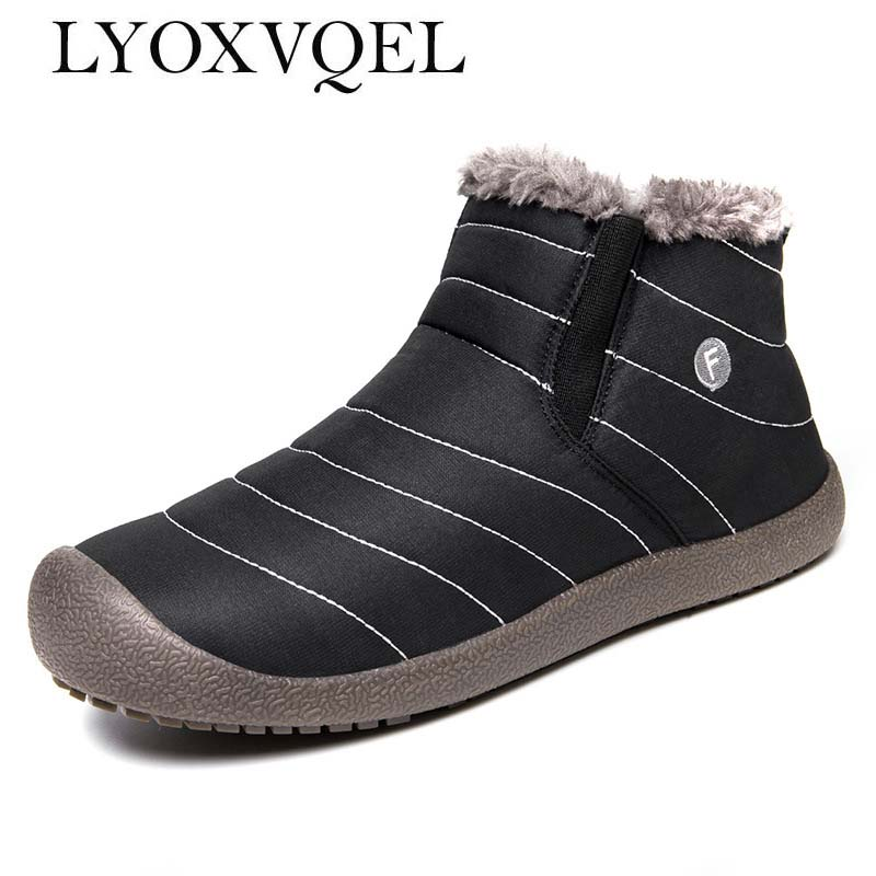 Men Winter Snow Shoes Man Boot Lightweight Ankle Boots